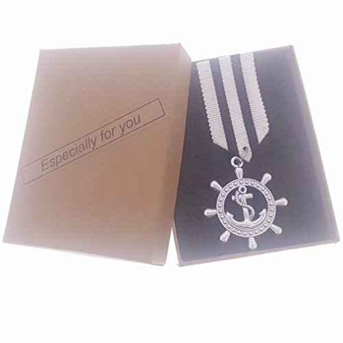 Commemorative Souvenir Badge Army Anniversary Boat Anchor Silvery Black-white Stripe ()