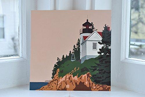 Bass Harbor Head Lighthouse, Maine Print (8x8 Square, Wall Decor Art)