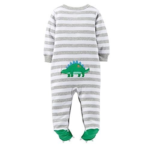 Carter's Striped Footie (Baby) - Dinosaur-6 Months
