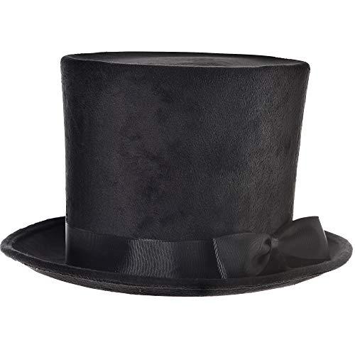 Amscan Deluxe Black Top Hat Costume Accessory - Deluxe Black Hat Top Felt