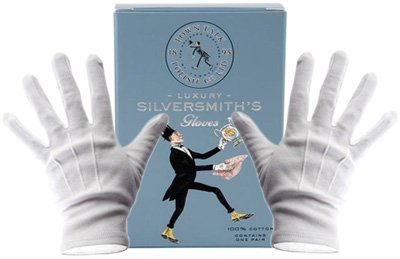 Luxury Silver and Jewelry Handling Gloves, One Pair by Town Talk