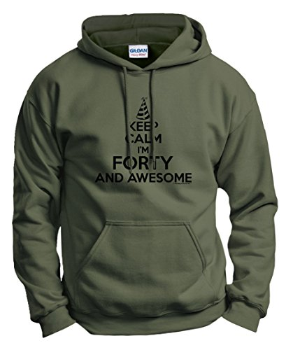 40th Birthday Gifts For All Keep Calm 40 Awesome Hoodie Sweatshirt