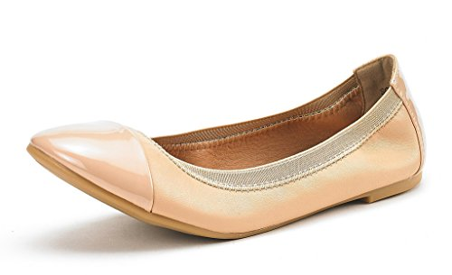 DREAM PAIRS Women's Sole-Flex Nude Ballerina Walking Flats Shoes - 9.5 M US (Best Work Flats For Walking)