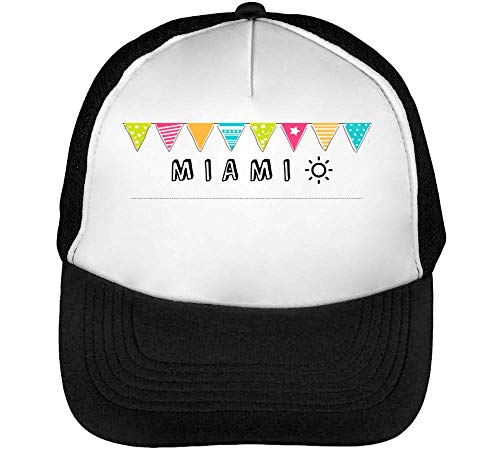 Beisbol Blanco Hombre Miami Flags Gorras Snapback Negro URxqBvw