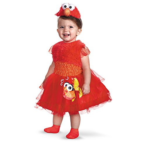 [Frilly Elmo Costume (12-18 months)] (Best 5 Person Halloween Costumes)