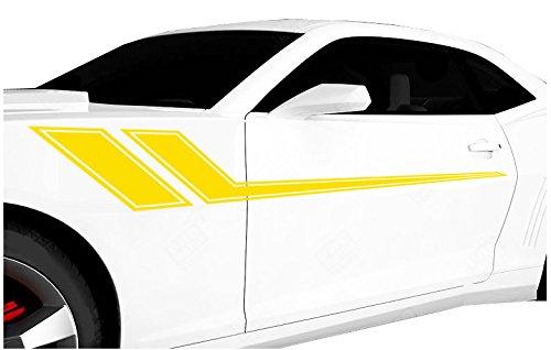 Yellow Decal Set - FGD Universal Racing Pin Stripe Decal Set 68