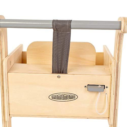 Amazon.es: AMLEG Carrito de Compra de Madera, con Porta bebés, Medida: 38 x 51 x 35 - Carros de muñecas: Juguetes y juegos