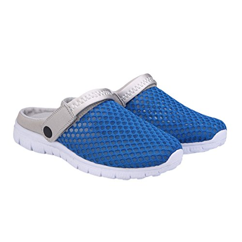 Cloth Shoes Sandals Sports Casual Slippers Unisex Men Out Deep Couples Women Breathable Blue Net Summer Hollow Beach Mesh Zhuhaixmy Outdoor 0fqxCTn