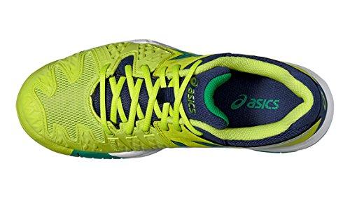 Asics Gel-resolution 6 Gs - Zapatillas de tenis Unisex adulto Lime/Blue
