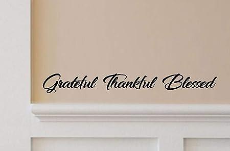 Forever Thankful door window wall Sticker VINYL DECAL Adhesive Bedroom decor