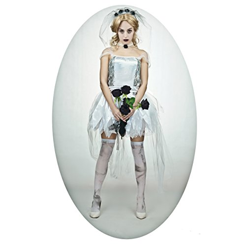[Women's Halloween Zombie Scary Bride Costume(S,M,L) (L)] (Sexy Zombie Halloween)