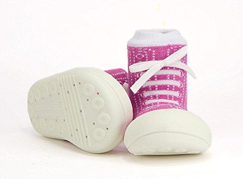 Attipas–Zapatillas de algodón gris Talla:21.5 EU morado