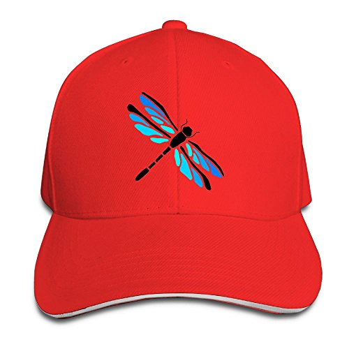 - Macevoy Dragonfly Gift Casual Unisex Unstructured Cotton Cap Adjustable Baseball Hat Cap Red