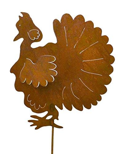 Oregardenworks Turkey Rustic Metal Yard Stake. Whimsical Thanksgiving