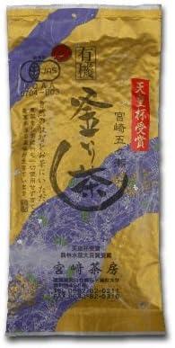 宮崎茶房(有機JAS認定、無農薬栽培)、釜炒り茶(特選) 緑茶100g、