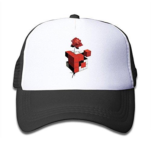 (Cool Rubiks Cube Rose Child Trucker Cap Hat Boys Girls Adjustable Unisex Black)