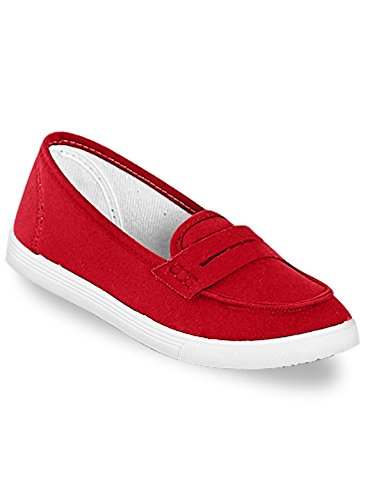 Carol Wright Gifts Kelly Slip-On Sneaker, Red, Size 9-1/2 (Wide)