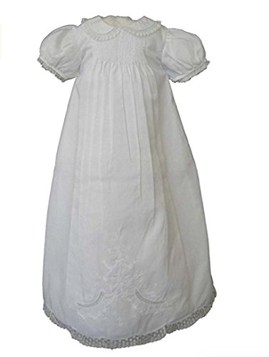Feltman Brothers Infant Girls White Christening Baptism Gown -White-6M-9M by Feltman Brothers