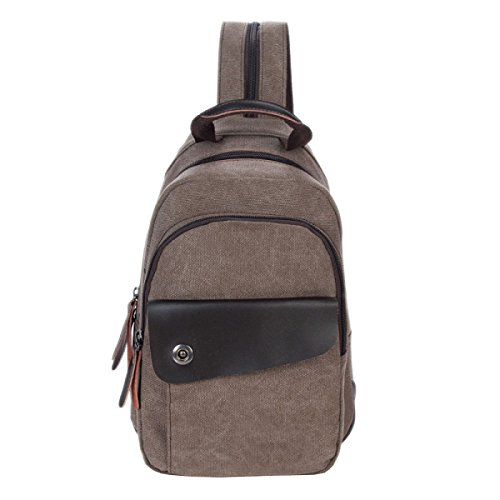 Leisure Multi 6 Bag Backpack Small Package functional Business Messenger Chest Shoulder Laidaye Canvas wBRFgF