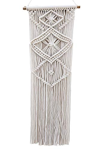 HERMOSO Macrame Wall Hanging Woven Tapestry Boho Home for sale  Delivered anywhere in USA