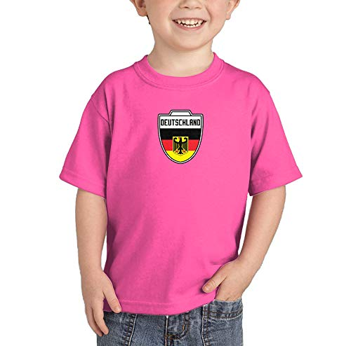 Deutschland - Country Soccer Crest Infant/Toddler Cotton Jersey T-Shirt (Pink, 18 Months)