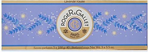 Roger & Gallet Lavender (Lavande Royale) Perfumed Soap Boxed Set - 3 x 3.5 (Lavender Perfumed Soap)