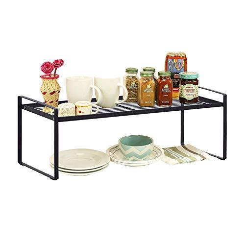 Kitchen Cabinet and Counter Shelf Organizer Storage, Black