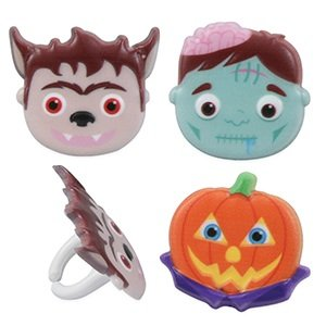 Halloween Monster Faces Cupcake Rings - 24 pcs by Bakery - Halloween Cupcakes Monster