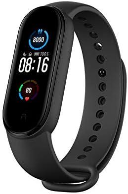 Xiaomi Mi Band 5 Pulsera de Actividad,Monitores de Actividad,Pantalla Pulsómetro Fitness Tracker, Smartwatch con 0.95''Pantalla AMOLED a Color,con iOS y Android,Negro( Versión Global)