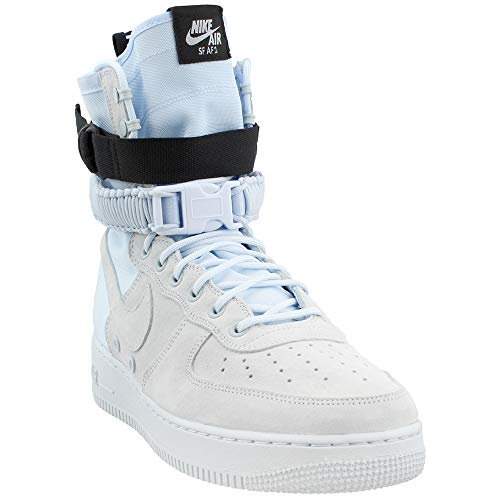NIKE Men's SF Air Force 1 Shoe, Scarpe da Ginnastica Basse Uomo Multicolore (Blue Tint/Blue Tint/Blue Tint/Black 402)