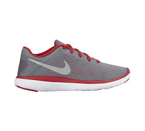Nike Flex 2016 Rn (Gs), Zapatillas de Running para Hombre Gris (Gris (cool grey/metallic silver-university red))