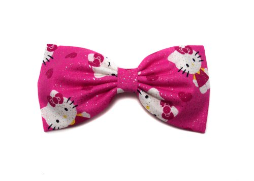 Hello Kitty Collection-hair Bows for Girls, Teens, Gifts for Her. (Glitter Kitty in Love, Alligator -