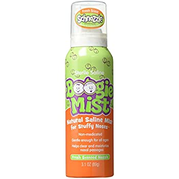 Boogie Mist Sterile Saline Nasal Spray for Baby and Kids Sensitive Noses  Clear Congestion, Fresh