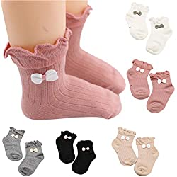 Lucoo Baby Socks,5 Pairs Baby Kids Girls Comfortable Cute Cotton Sock Slippers Ankle Socks