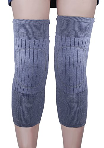 Liying Unisex Knieschoner Atmungsaktive Elastische Kniebandage Beinlinge Beinwärmer Kniewärmer Knieschützer Winter Wollen