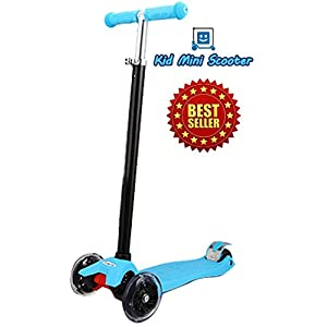 Kid Mini Scooter™ with LED Light Up Wheels, Adjustable Handle Bar Max Weight : 143 pounds (65kg) ★ Award-winning Design ★ Easy-to-steer ★ Smooth Ride & High Quality ★ Perfect for Kids ★ Low to the Ground ★ Large Enough for Both Feet - 299