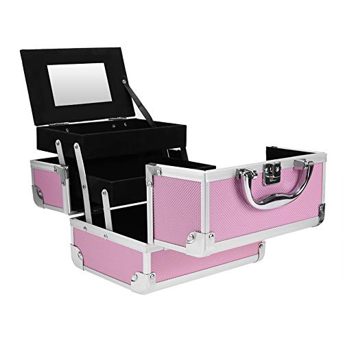 Mini Makeup Train Case Make up Organizers and Storage Travel Cosmetic Case Makeup Boxes with Compartments