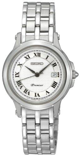SEIKO-SXDE01P1-Reloj-analgico-de-cuarzo-para-mujer-con-correa-de-acero-inoxidable-color-plateado