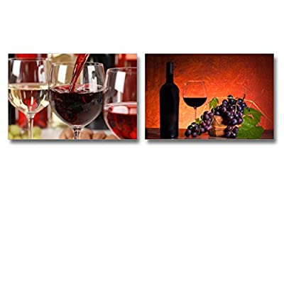Canvas Prints Wall Art -Red Wine Pouring into a Wine Glass | Modern Home Deoration/Wall Art Giclee Printing Wrapped Canvas Art Ready to Hang - 16
