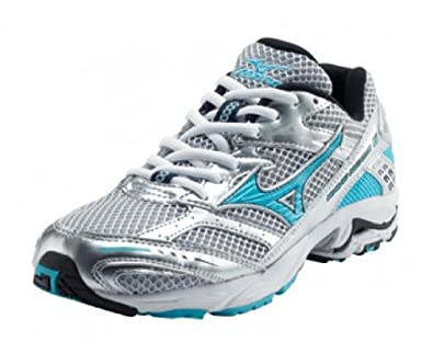 MIZUNO Wave Nexus Zapatilla de Running Junior, Plata/Azul, 36 ...