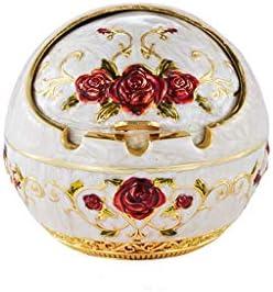 灰皿 , ヨーロッパのレトロ灰皿スタイリッシュな人格クリエイティブ灰皿家庭用灰皿(サイズ:8.2 * 7.5CM) (色 : Gold, サイズ : 8.20*7.50CM)