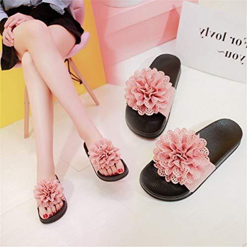 À Fleurs pour Chaussures De Muffins Femmes Confortables YUCH Plage Et Pink xw08tqIAY