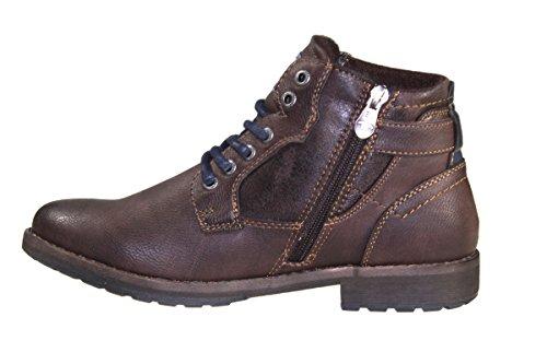 Tom Tailor 3781609 Modische Herrenschuhe Leder Imitat Boots Rust