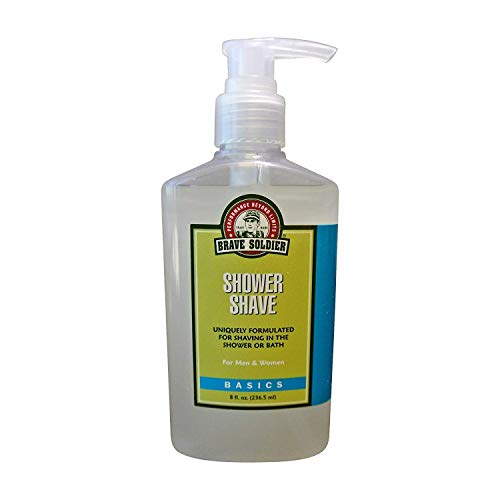 Brave Soldier Shower Shave for Men and Women - 8 fl. oz. / 236.5 ml Pump Bottle - Ultra-Rich Formula, Natural Ingredients, Bath & Shower - Antiseptic Brave Soldier Ointment