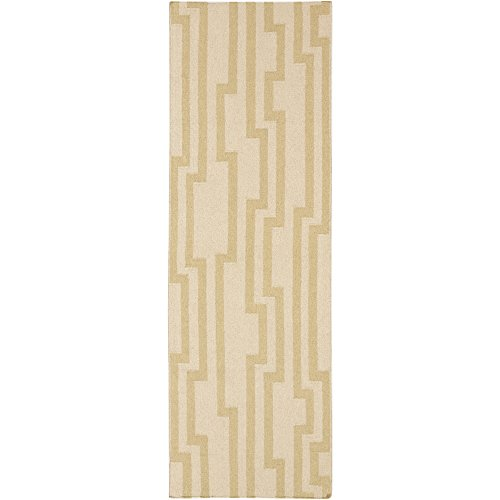 Surya Candice Olson Market Place MKP-1011 Flatweave Hand Woven 100% Wool Parchment 2'6