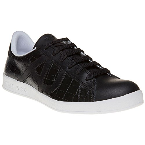 Armani Jeans Croc Cup Sole Hombre Zapatillas Negro