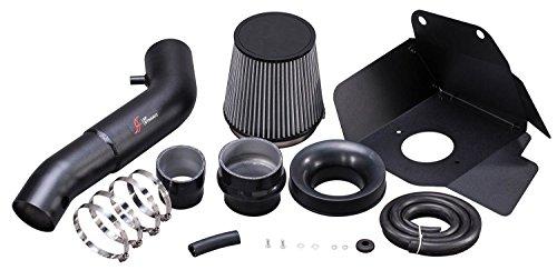 AF Dynamic Black Air Filter Intake Kit 2016-2018 for Durango 3.6L 3.6 V6/Jeep Grand Cherokee 3.6L 3.6 V6 (Best Cold Air Intake For Jeep Grand Cherokee)