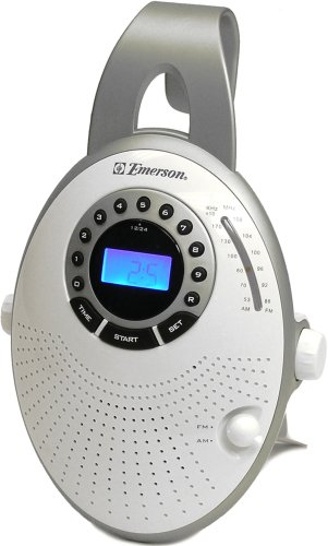 Emerson CK5859 Shower Radio with Clock (Discontinued by Manufacturer) by Emerson