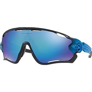 Oakley Men's Jawbreaker Polarized Iridium Rectangular Sunglasses, Sapphire Fade, 31 mm
