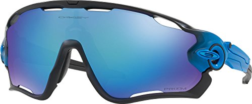 Oakley Men's Jawbreaker Polarized Iridium Rectangular Sunglasses, Sapphire Fade, 31 - Jawbreaker Oakley